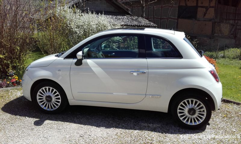 fiat 500 1,2l start and lounge 69 ch blanche vehicules voitures haut-rhin