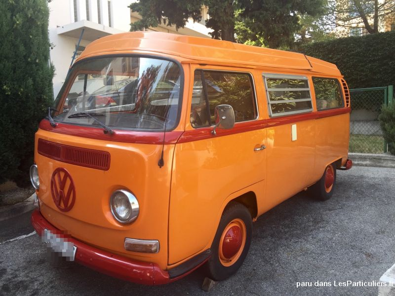 combi wolskwagen type 2 vehicules caravanes camping car alpes-maritimes