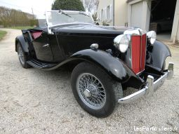 mg td 1953 vehicules voitures charente-maritime
