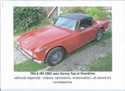 triumph tr4 a irs avec overdrive vehicules voitures nord