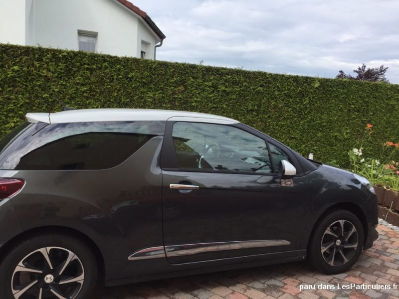 ds3 so chic puretech 82 bvm gris shark / blanc vehicules voitures moselle