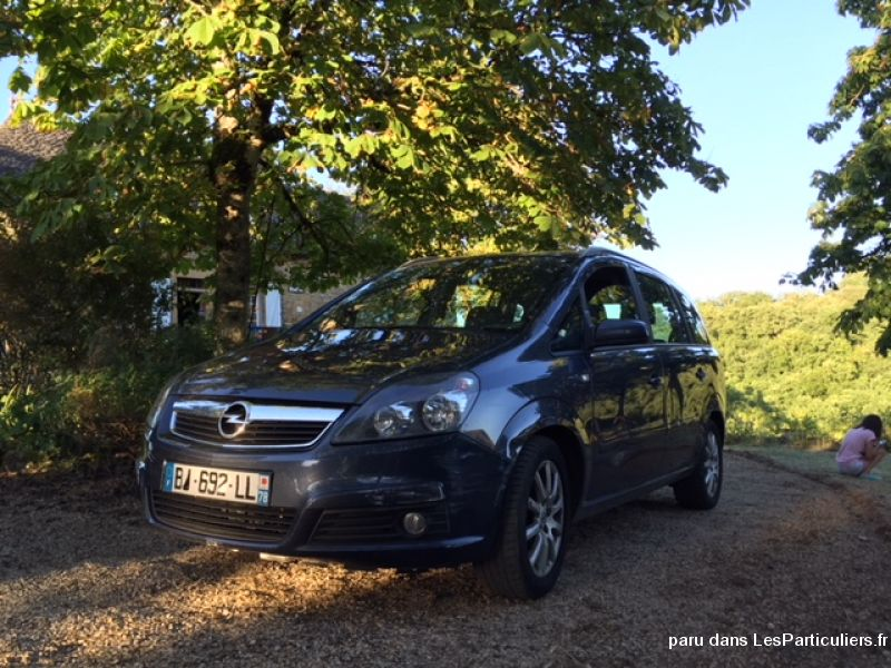 opel zafira bleu marine, 1. 9l dci, 120 ch, 2007 vehicules voitures yvelines