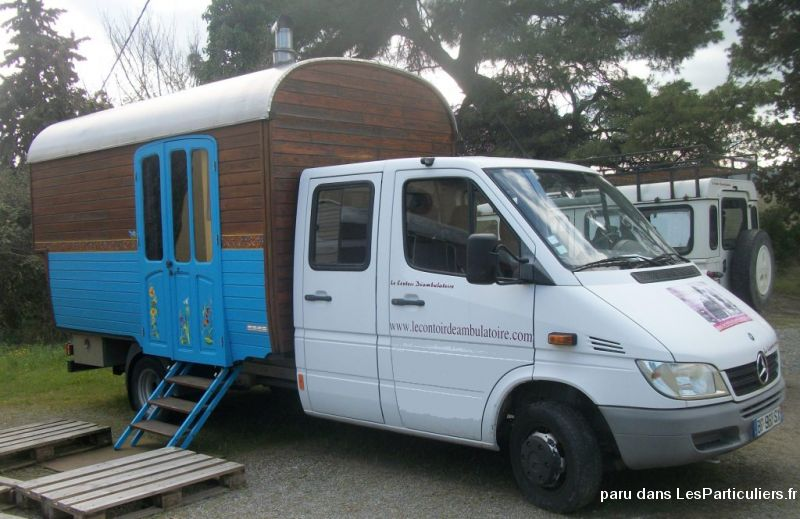 camion roulotte mercedes 416 cdi  vehicules caravanes camping car aude