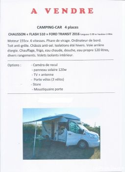 camping car ford transit 2016  chausson flash 510 vehicules caravanes camping car eure