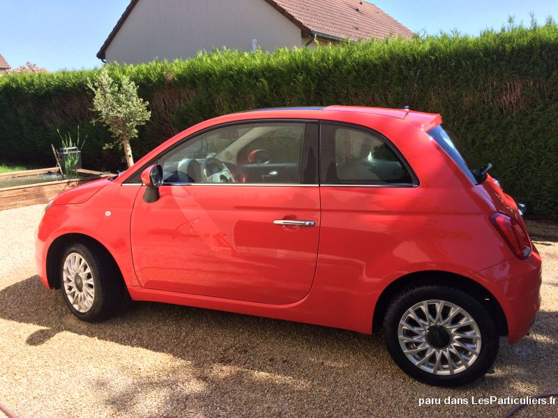 Fiat 500 lounge 22500km rouge corail Vehicules Voitures Cher