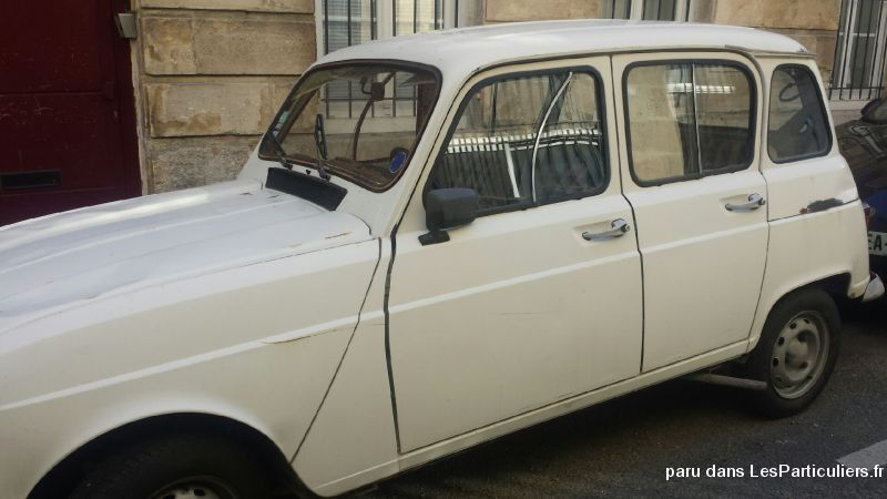 4L  BLANCHE - ANNEE 1985 Vehicules Voitures Gironde