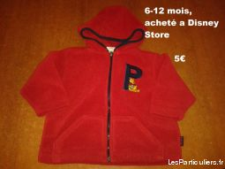 veste polaire winnie l'ourson enfant bebe vetements bebe pas-de-calais
