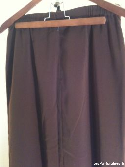 Jupe droite marron taille 44