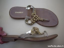 2 paires d'Entredoigts Beige perl�s pt 39 neufs