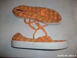 Basket toile Orange � carreaux pt 38 � 2, 50 �