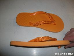 Tongs Orange perlé pointure 36-neufs- à 3 €