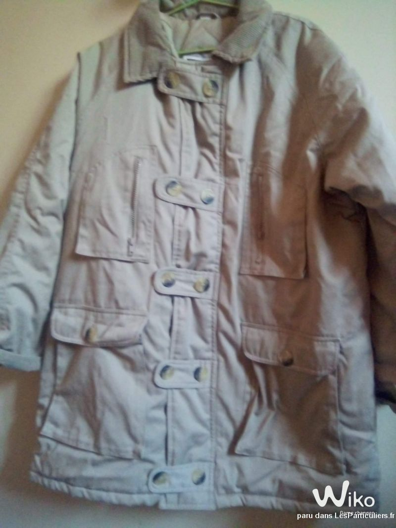 Manteau aviateur beige t XL