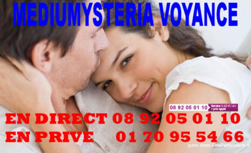 0 892 05 01 10 Mediumysteria Voyance de l'Amour Services Evenements Voyance Horoscope Paris