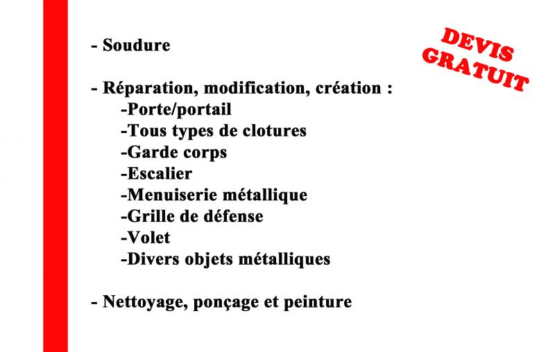 metallerie services evenements artisan depannage côte-d'or