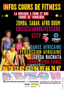 cours de zumba et sabak fitness danse et percus services evenements organisation evenements bas-rhin
