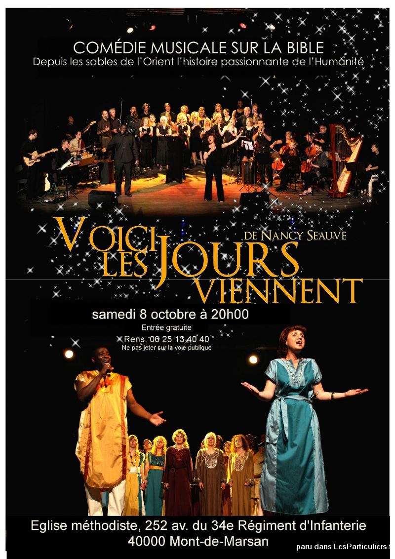 comédie musicale sur la bible services evenements concert theatre spectacle landes