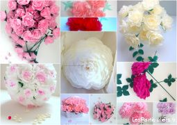 fleurs en papier d�coration �v�nementielle  services evenements organisation evenements paris