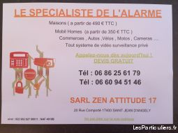 alarme securite services evenements artisan depannage charente-maritime