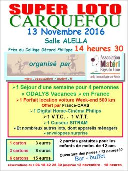 super loto organis� par l�asso mat�ri paysde loire services evenements organisation evenements loire-atlantique