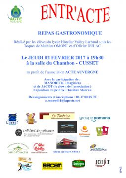 repas gastronomique services evenements organisation evenements allier
