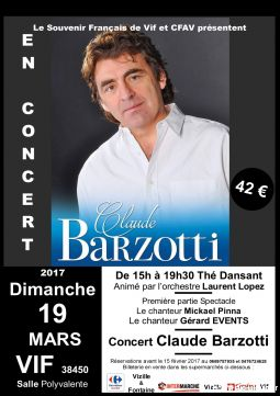 concert claude barzotti services evenements concert theatre spectacle isère