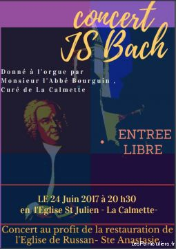 concert donné à l orgue js bach à 20h30 services evenements concert theatre spectacle gard