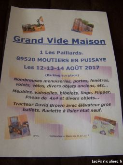 vide maison services evenements organisation evenements yonne