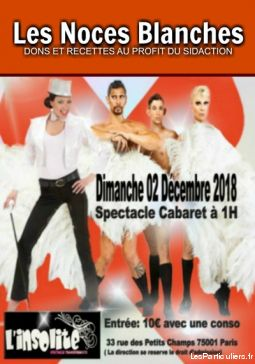 les noces blanches - sidaction services evenements concert theatre spectacle paris
