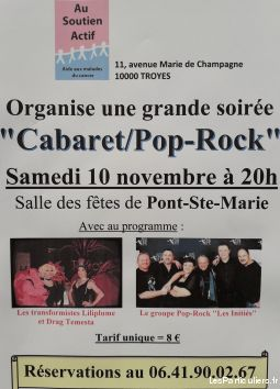 grande soirée cabaret / pop-rock services evenements concert theatre spectacle aube