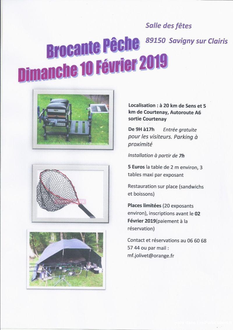 brocante pÊche 10 février 2019 services evenements yonne