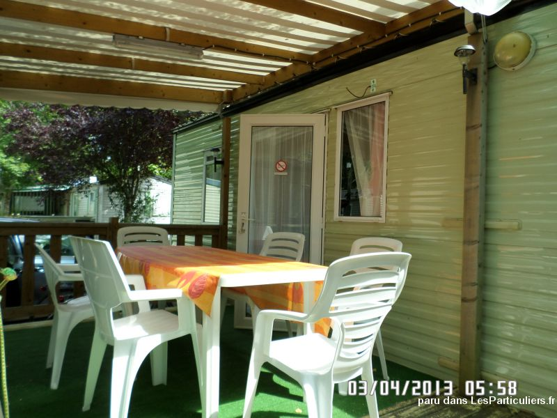 mobilehome climatis�, ombrag�, 3 chbres, landes immobilier location vacances landes