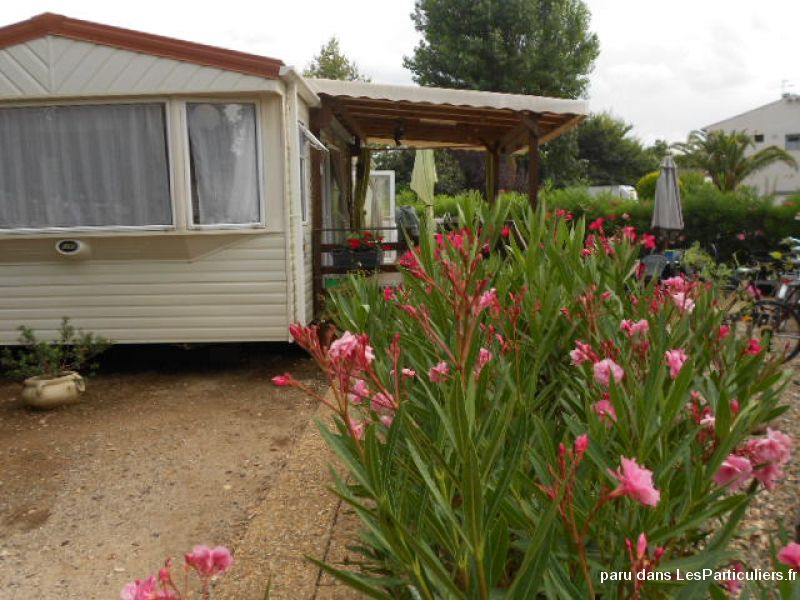 mobil home 8 pers camping **** vias plage 34 immobilier location vacances hérault