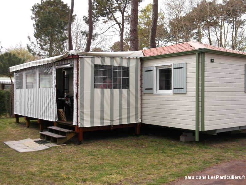 mobile home 2 ch. 6p. camping 4* la palmyre immobilier location vacances charente-maritime