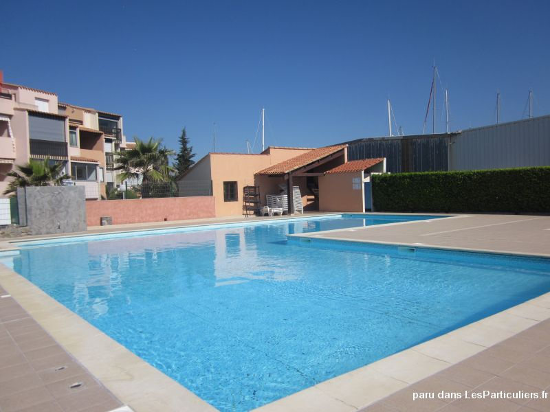 le cap d'agde studio cabine piscine parking  immobilier location vacances hérault