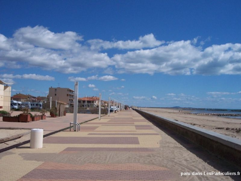 valras plage particulier t3 face � la mer immobilier location vacances h�rault
