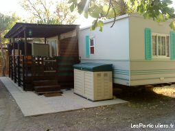 mobilhome climatis� avec terrasse couverte immobilier mobil home h�rault