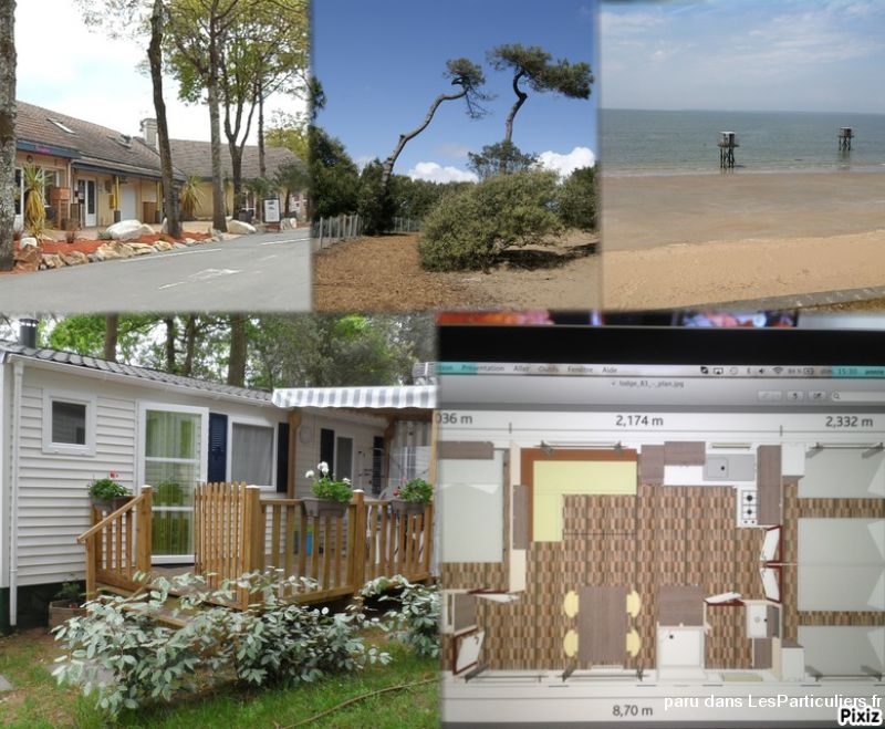 mobilhome familly 3ch tt confort 300m mer immobilier location vacances loire-atlantique