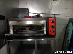 FOUR A PIZZA PROFESSIONNEL + SUPPPORT EN INOX