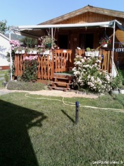 chalet dans camping a enveitg immobilier mobil home pyr�n�es-orientales