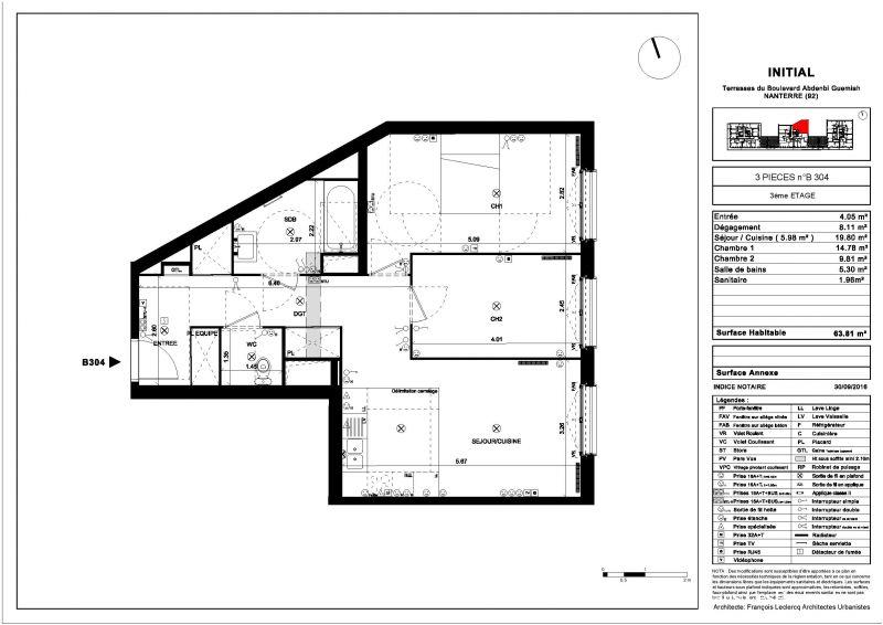 appartement de 63m 3 pices immobilier hauts de seine. Black Bedroom Furniture Sets. Home Design Ideas