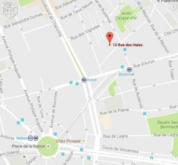 parking couvert rue des haies 75020 m°nation/avron immobilier garage parking cave paris
