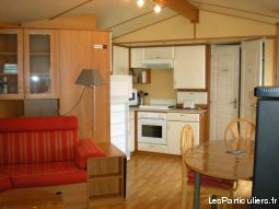 mobil home 4 / 6 pers climatisé  immobilier location vacances gironde