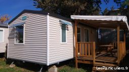 mobilhome 4 / 6 personnes camping hérault immobilier location vacances hérault