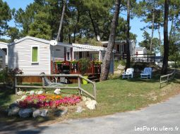 mobil-home, 4 / 6 pers camping 4* bonne anse immobilier location vacances charente-maritime