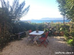 la madrague 83270 t3 rdc jardin vue mer garage immobilier appartement var
