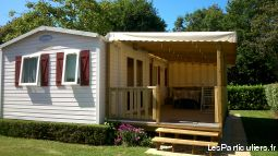 mobil home sur camping 3* île d'oleron immobilier mobil home charente-maritime