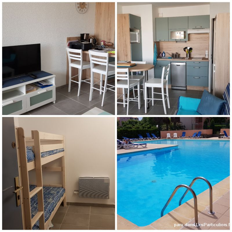 CAP D'AGDE Studio cabine 4p / Piscine / parking