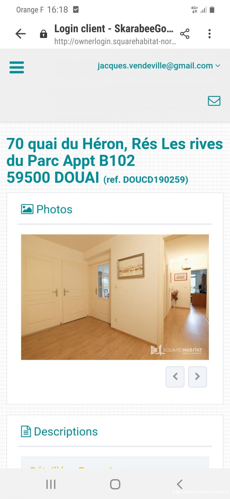 Appartement Standing T4 Immobilier Appartement Nord