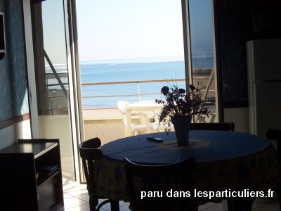 appartement valras plage face à la plage immobilier location vacances hérault