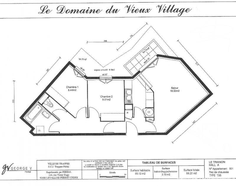 f3 r�cent de 55 m�: id�al co-loc.  immobilier appartement yvelines